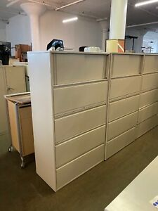 4dr 36 w X 18 d X 62 3 4 h Lateral File Cabinet W Storage By Haworth Office