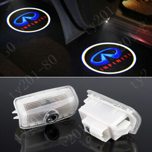2x 3d Blue Led Car Door Courtesy Laser Ghost Shadow Projector Light For Infiniti
