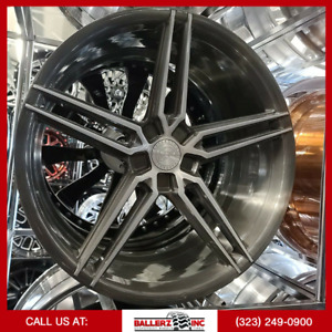 Forgiato Tecnica S4 22x9 10 5 Brushed Silver Wheels And Tires 5 Lug