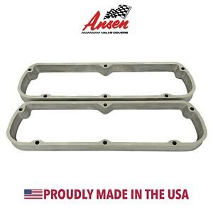 Ford 289 302 351w Shelby Logo Valve Cover Spacers As Cast Ansen Usa