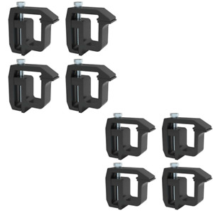 8 Truck Rack Shell Clamps Powder Coated Mounting Clamps For Truck Caps