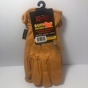 Kinco Genuine Buffalo Leather Work Gloves Farm Ranch Construction Size Large