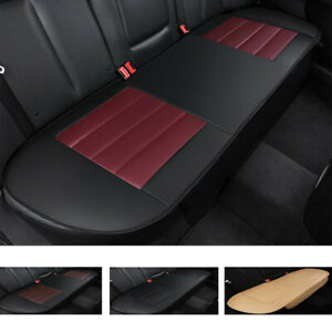 Universal Pu Leather Car Rear Back Seat Cover Pad Mat Chair Protector Cushion