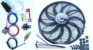 16 Inch Electric Radiator Cooling Fan 12v 3000cfm Relay Thermostat Kit Pc453hd