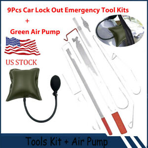 Car Door Open Tool Key Lock Out Emergency Tools Kit Unlock Air Pump Universal