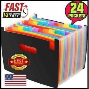 File Folder Organizer Heavy Duty Expanding File Wallet With Tabs A4 Size Black