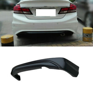 Rear Bumper Lip Diffuser Bodykit Matte Black Fit For Honda Civic 9th 2012 2013