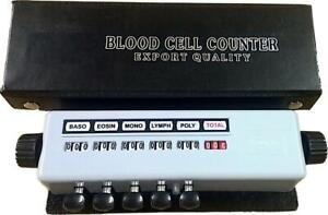 5 Keys Blood Cell Counter With Protective Case Lab Equipment Record 999