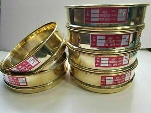 Heavy Brass Gauge Standard Testing 6 Set Sieve W Lid Catch