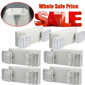 Lot Of 6 Packs All Led Exit Sign Emergency Light Dual Square Head Combo Ul El w2