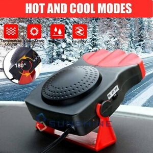 Car Heater 12v 150w 3 Outlet Plug In Cigarette Lighter Portable Windscreen Fan