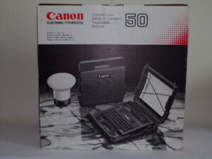 Canon 50 Electronic Typewriter Carrying Case Gold Vintage New