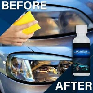 Car Headlight Lens Restoration System Repair Kit Plastic Light Polish Cleaner