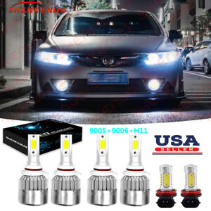 For Honda Civic 2006 2007 2008 2009 2015 Led Headlight High Low Beam Fog Bulbs