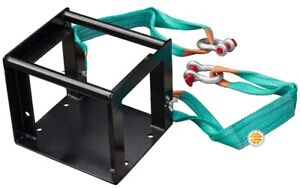 Universal Square Winch Mounting Plate Front Cradle 6000 12000lbs With 2 Belts