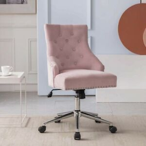 Velvet Swivel Chair Task Desk Armchair Tufted Upholstered Computer Chairs