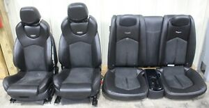 2011 2015 Cadillac Cts V Coupe Black Leather W Suede Recaro Seat Set Used Oem Gm