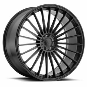 20 Mandrus 23 20x10 Matte Black 5x112 For Mercedes 5 Lug Wheel 25mm Rim