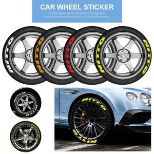 Car Nitto Stickers Permanent Tire Lettering 14 24 8x Decal Letters 1 4 Tires