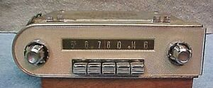 57 Chrysler Saratoga New Yorker 300c Am Push Button Radio Plays Good
