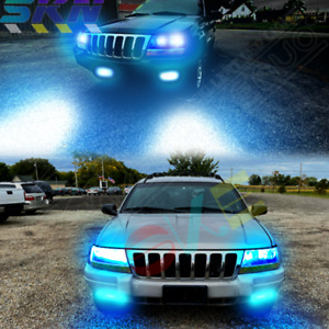 For Jeep Grand Cherokee 1999 Special Hi low Beam fog Lights 8000k Led Headlights