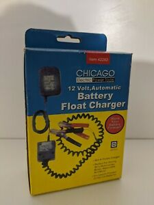 New Chicago Battery Float Charger 12v Automatic Item 42292
