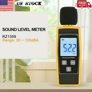 Digital Sound Level Decibel Noise Meter Db Measure Pressure Monitor Tester Us