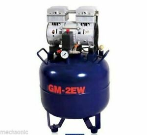 Brand New One Driving Two 32l Noiseless Oilless Dental Air Compressor Us