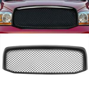 For 2006 2008 Dodge Ram 1500 2500 3500 Front Abs Mesh Style Hood Grille Black