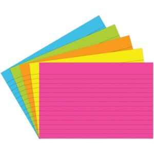 Ruled Bright Index Cards By Top Notch Teacher 4x6 4x6 Ruled Bright