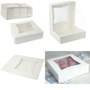 Beautiful White Pastry Bakery Box Keep Doughnuts Cookies Muffins Safe Uni