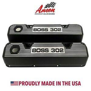 Ford Boss 302 Valve Covers Black 351 Cleveland version 2 Ansen Usa
