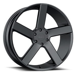 Milanni 472 Switchback 22x9 5 30mm Satin Black Wheels Rims 22 Inch
