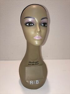 Realistic Mannequin Head For Wigs jewelry hats e mp075n