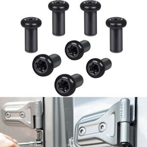 8pcs Door Hinge Nuts Hard Top Removal Torx Set Tool Lock Kit For Jeep Wrangler