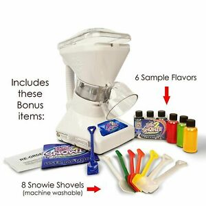 Commercial Ice Shaver Slush Maker Snow Cone Machine W Syrup Samples Shaved Ice