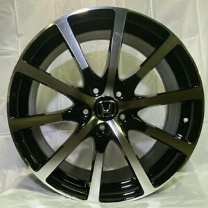 19 Black Machined Wheels Hfp Style Fits Acura Tsx Tl Brand New set Of 4 W305