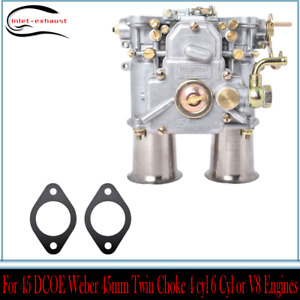 Carburetor Fit For 45 Dcoe Weber 45mm Twin Choke 4 Cyl 6 Cyl Or V8 Engines