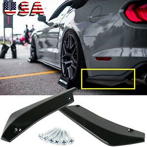 Sport Racing Carbon Fiber Rear Bumper Diffuser Splitter Canard For Ford Mustang