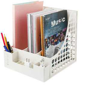 Desktop File Organizer Office Supplies Desk Accessories With Pencil Holder For