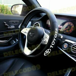 New Faux Leather For Toyota New Black 15 Diameter Car Auto Steering Wheel Cover