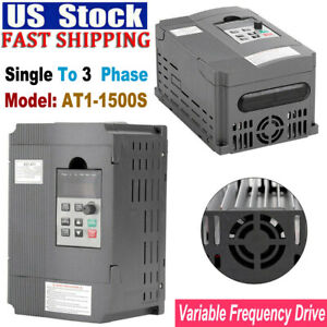1 5kw 2hp Single To 3 Phase Variable Frequency Drive Inverter Vfd For Cnc Drives
