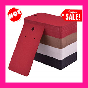 200 Pieces Earring Display Card Holder Blank Kraft Paper Tags Diy Studs X Inches