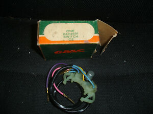 Nos 1960 s Gmc Turn Signal Switch With Wires 2434691 In Factory Box