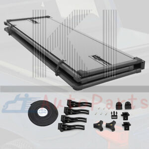 5ft Frp Hard Solid Tri Fold Tonneau Cover For 05 21 Nissan Frontier 5 Short Bed