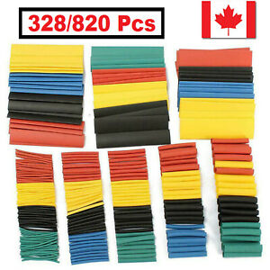 820pcs Heat Shrink Tubing Tube Assortment Wire Cable Insulation Sleeving Kit Ca