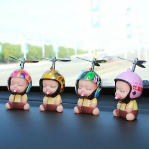 Car Ornament Baby Doll Toy Propeller Interior Decoration Dashboard Automotive