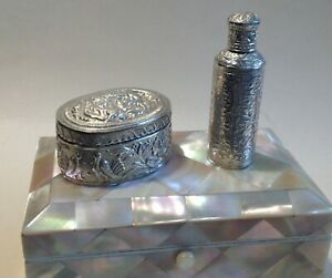 A Vintage Indian Silver Scent Bottle Box