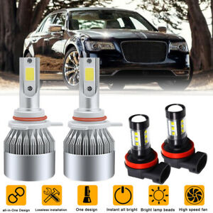 For Chrysler 300 2011 2013 2014 6000k 9012 Led Headlight H11 h16 Fog Bulbs 4pc