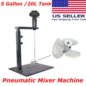 Usa 5 Gallon 20l Tank Pneumatic Paint Mixer With Stand Paint Coating Mixing Tool